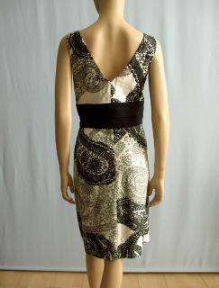 Kay Unger New York Print Dress Black White Gray 12 $390