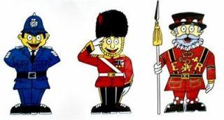 British Character Stickers Policeman Royal Guard Palace Guard Triple