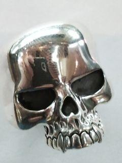 Keith Richards Skull 925 Sterling Silver Ring