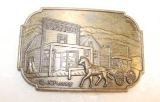 Penny First Store Belt Buckle Kemmerer Wyoming 1902