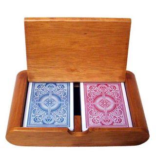 KEM Plastic Playing Cards Arrow R B Poker Reg Wood Box