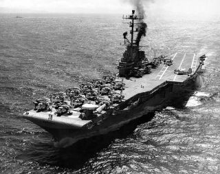 USS Kearsarge CVS 33 Vietnam War Deployment Cruise Book Year Log 1966