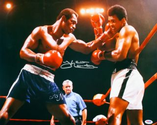 Ken Norton w Muhammad Ali Signed Boxing 16x20 PSA DNA