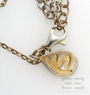 Kendra Scott Sterling Silver Multicolor Gemstone Necklace
