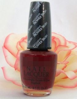 OPI Nail Polish Lacquer Kennebunk Port .5 oz Deep Merlot Wine Red New
