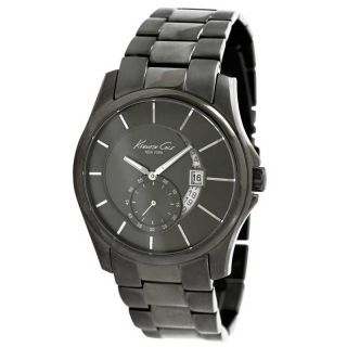 Kenneth Cole KC3902 Mens New York Black Ion Plated Stainless Steel