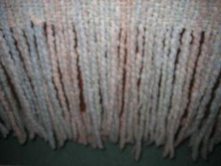 Kennebunk Weavers Fab Hand Woven Throw Boucle Yarn Afghan Cottage