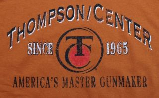 Thompson Center Arms T Shirt Gun Maker Hunting Rifle Rimfire Skull NWT