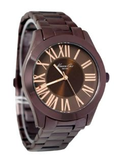 Kenneth Cole New York KC4899 Brown Color Metal Roman Dial Unisex Watch