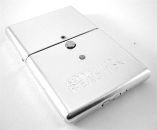 Kenneth Cole Reaction Aluminum Silver Business Card Case