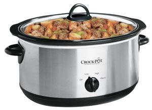 Crockpot 7 Quart Oval Manual Slow Cooker Stainless Steel Crock Pot