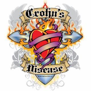 Crohns Disease Cross & Heart Photo Cut Outs