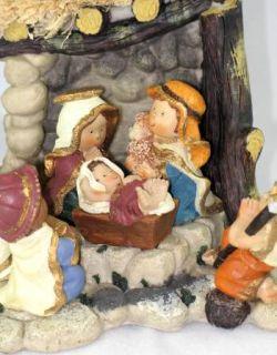 Kurt Adler Nativity Set 6 Children Figures Stable