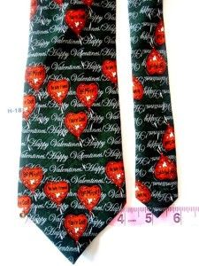 Valentine Day Be Mine Orange Green Men Formal Necktie