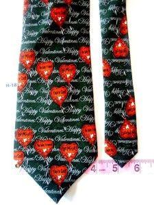 Valentine Day Be Mine Orange Green Men Formal Necktie