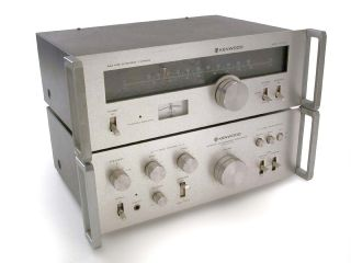 Vintage Kenwood Ka 3500 40WPC Amplifier KT 5300 Am FM Tuner—as Is