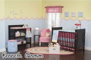 Kenneth Brown Sweet Stitches Baby Crib Sheet Nursery Floral Bedding
