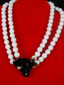 Kenneth Jay Lane for Avon Midnight Black Rose Necklace