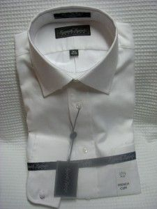 Kenneth Roberts Platinum French Cuff White Shirt 15 5