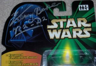 Kenny Baker Signed Autograph Star Wars R2 D2 Action Figure with Proof