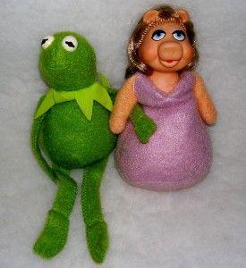 Jim Henson The Muppets Fisher Price Kermit Miss Piggy Dolls VNC