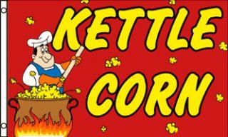 Huge 3x5ft Kettle Corn Flag Banner Sign Same Day SHIP