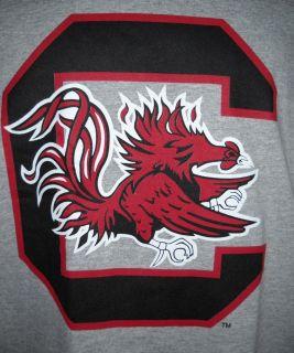 NCAA University of South Carolina Gamecocks Long Sleeve Gray T Shirt