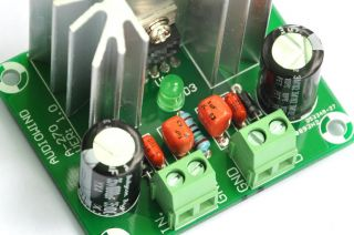 Very Low Noise 40ΜV Adjustable Voltage Regulator Board 3 Amp