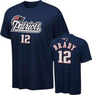 New England Patriots Tom Brady Youth Name and Number Tee Jersey Player
