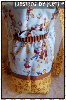 Designs by Keri Western Cowboy Unisex Diaper Bag