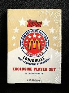 2007 TOPPS MCDONALDS ALL AMERICAN SEALED SET   DERRICK ROSE RC ROOKIE