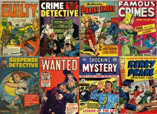 GOLDEN AGE DVD CRIME DETECTIVE COMICS #2 Authentic Police Cases Murder