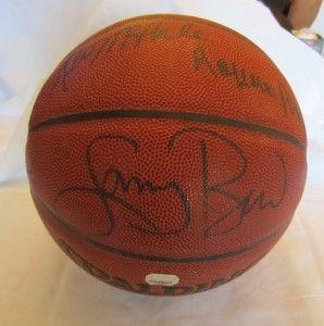 Larry Bird Robert Parish Kevin McHale Signed Basketball Boston Celtics