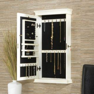 Mount Jewelry Box Armoire Cabinet Organizer Necklace Storage