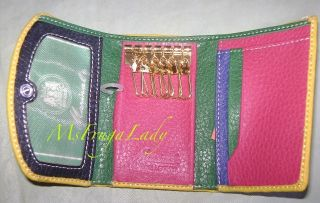 Green Blue Marinal Products Card ID Key Holder Wallet Accessory