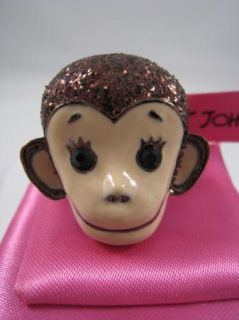 Betsey Johnson Monkey Stretch Ring