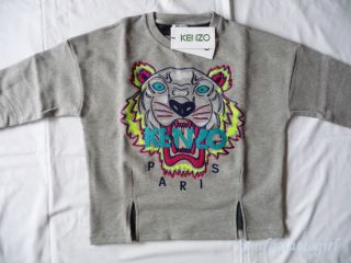 New SS 2013 Kenzo Paris Tiger Sweater sweat Shirt Jumper Gray Women