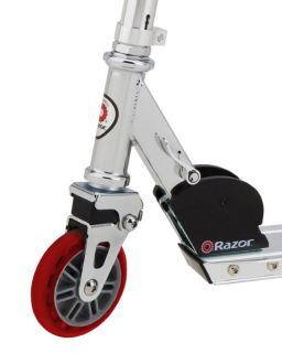 Razor A2 Kick Scooter Boys Girls Red with Child Helmet Elbow Knee Pads