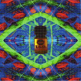 Blotter Art Psychedelic Perforated LSD Acid Art Hofmann Kesey