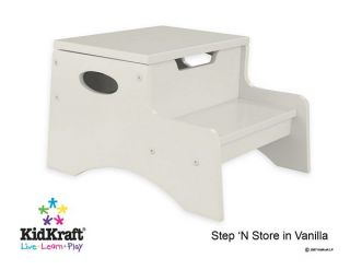 KidKraft Toddler Wooden Store Kid Step Stool Vanilla