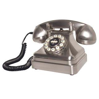 Crosley Kettle Classic Desk Phone Brushed Chrome