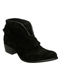 Bertie Pia fringe cowboy boots Black