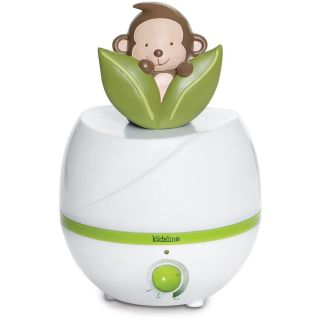 Kids Line Ultrasonic Cool Mist Monkey Humidifier   Color White   New