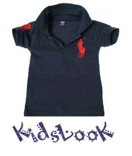 Baby Boy Polo T shirt Ralph Size 2 6 years Color NAVY, WHITE BRAND NEW