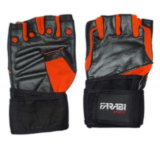 Weight Lifting Fitness Gym Gloves Long Velcro Strap