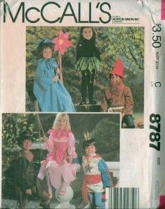 Childs Halloween Costume Sewing Pattern Uncut Boys Girls Child Kids