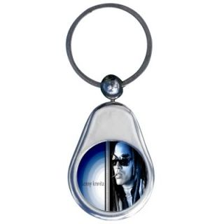 Lenny Kravitz Chrome Keychain Key Ring Chain