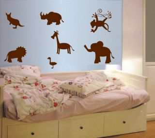 NURSERY Decals Baby NEW MURAL Jungle CRITTERS STICKERS for Kids Room