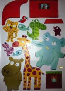 Big Jungle Animals Kids Boys Room Nursery Removable Wall Stickers