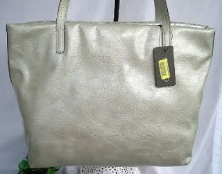 Guess Kihei Quilted Silver Satchel Large Tote Shoulder Bag Purse